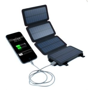 QuadPro 4 8W Portable Solar Phone Charger with 6000mAh Dual USB Power Bank